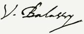 Balassi Bálint aláírása