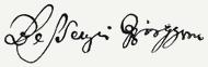Bessenyei György aláírása