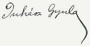 Juhász Gyula aláírása
