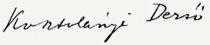 Kosztolányi Dezső aláírása
