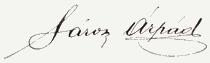 Sárosi Árpád aláírása