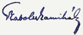 Szabolcska Mihály aláírása